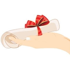 Roll of the paper in hand vector