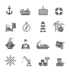 Sea Port Icons vector