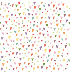 Seamless background with colorful hearts and vector image