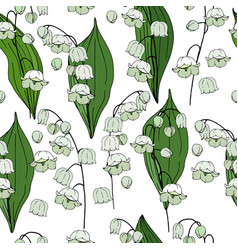 seamless floral decorative pattern with lilies of vector image