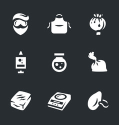 Set of drug laboratory icons vector