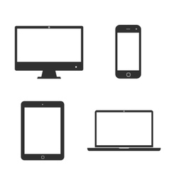 Set of icons electronic devices vector image