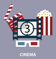 Set of movie design elements and cinema icons in vector image vector image