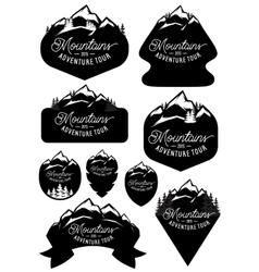 Set stylish retro badge templates vector