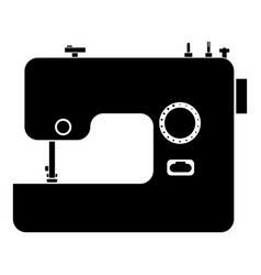 sewing machine icon black color flat style simple vector image