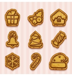 Shaped cookies for Christmas and New Year vector