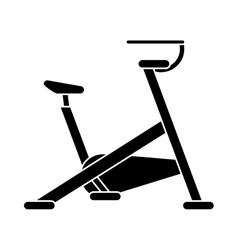 silhouette stationary bicycle machine gym sport vector image