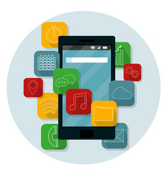 smartphone mobile applications vector image
