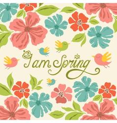 Spring greeting card vector