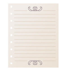 striped notebook sheet element vector image