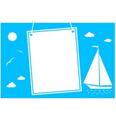 summer sea vacation poster card vector image