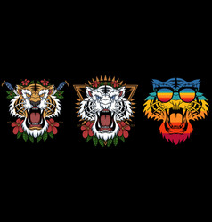 tiger decoration vector image