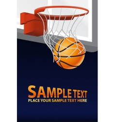 Vector basketball poster vector