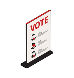 Voting program list composition vector