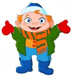 winter kid vector image
