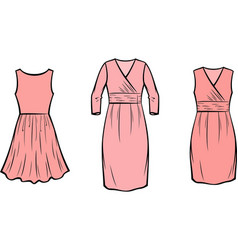 Womens dress vector