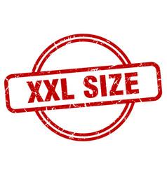 Xxl size stamp xxl size round vintage grunge sign vector