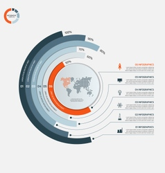 circle infographic template with 6 options vector image vector image