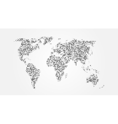 Dotted Abstract World Map With Shadow Template vector image