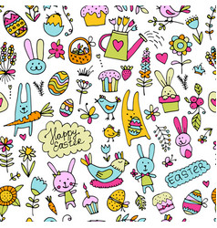 easter seamless pattern for your design vector image