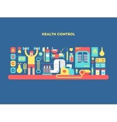 Health control design concept vector image vector image