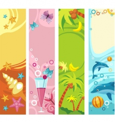 tropical beach banners vector image vector image