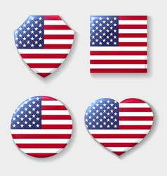 usa national flag emblem set vector image