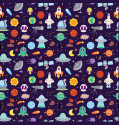 astronomy icons stickers set seamless vector image