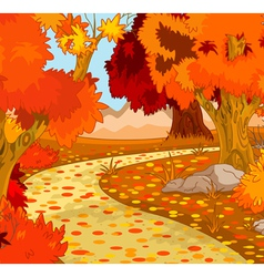 Autumn Forest Landscape vector image
