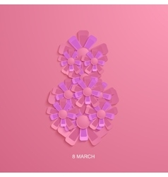 modern 8 march background vector image