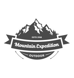 mountain explorer vintage isolated label vector image