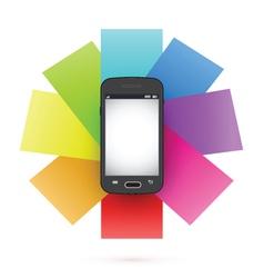 Smart phone infographics vector image