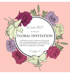 Romantic floral background for wedding funeral vector image vector image