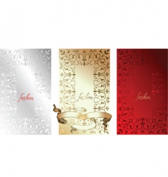 white red gold fashion backgrounds vector image vector image