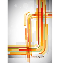 Abstract orange lines on grey background vector image vector image