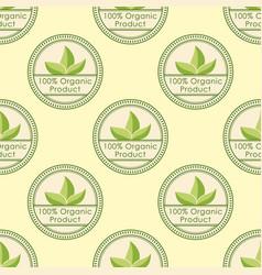 bio farm organic eco healthy food seamless pattern vector image vector image