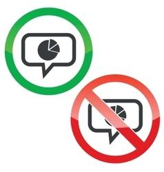 Diagram message permission signs vector image vector image