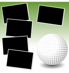 golf photo adventure vector image vector image