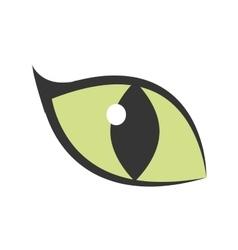 green eye big cat glowing icon vector image