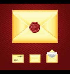 mail sealing wax vector image vector image
