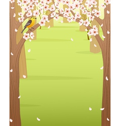 Spring forest vector image vector image