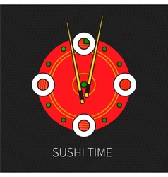 Sushi time vector image vector image