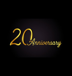 20 anniversary logo concept 20th years birthday vector image