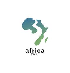 Africa river logo design vector