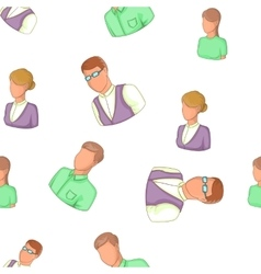 Avatar people pattern cartoon style vector