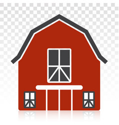 Barn or farmhouse flat color icon for apps vector