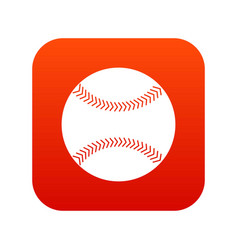 Baseball icon digital red vector