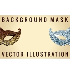 Beautiful banner mask of lace Mardi Gras vector image