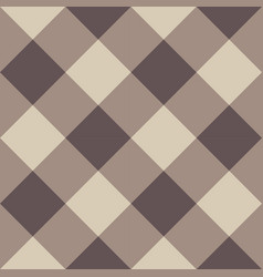 Brown checkered seamless background vector
