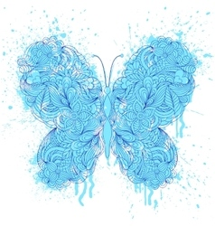 Butterfly on grunge splash vector
